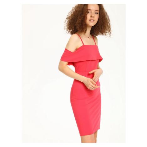 Top Secret šaty dámské jednobarevné s odhalenými rameny