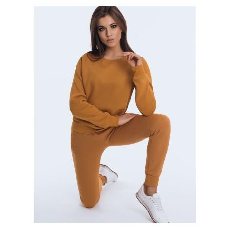 Women's sweatshirt set FITT camel AY0505 DStreet