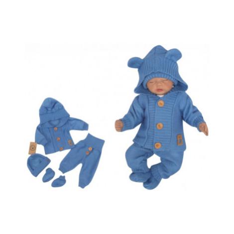 Z&Z 4-dílná kojenecká soupravička, kabátek, tepláčky, čepička a botičky - jeans, vel.