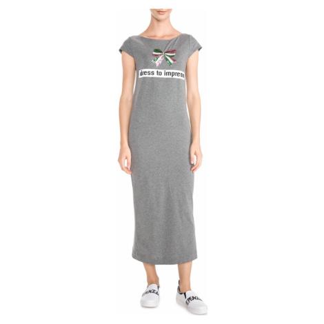 Šedé šaty - LOVE MOSCHINO
