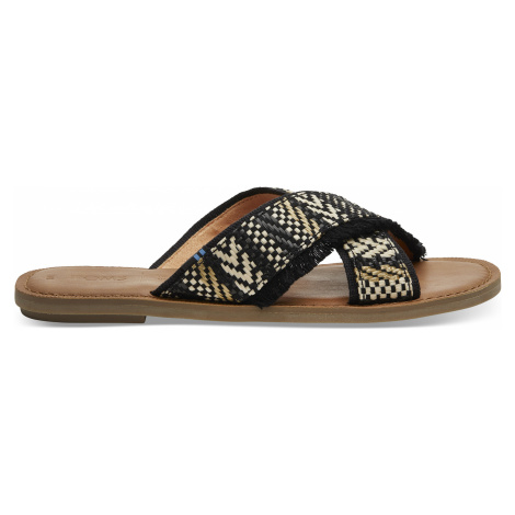 Black Geometric Woven Women Viv Toms