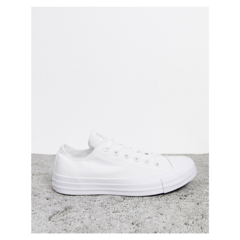 Converse Chuck Taylor All Star Ox white monochrome trainers