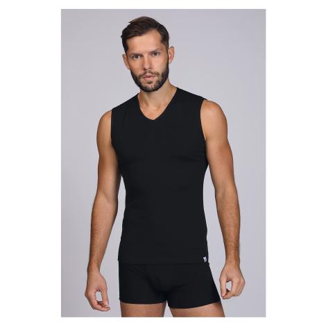Černé tričko bez rukávů Enrico Coveri