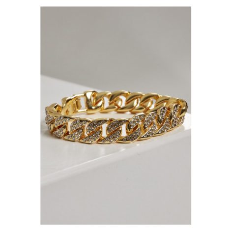 Big Bracelet With Stones - gold Urban Classics