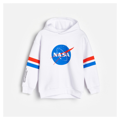 Reserved - Mikina s kapucí NASA - Bílá