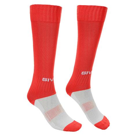 Červené fotbalové ponožky Givova