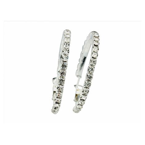 Linda's Jewelry Náušnice Crystal Shine střední kruhy IN132