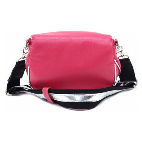 Růžová dámská zipová kabelka - ledvinka Libby Arwena (PL)