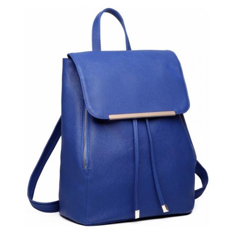 Modrý stylový dámský modní batoh Frell