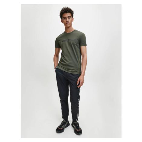 Calvin Klein pánské zelené tričko Logo