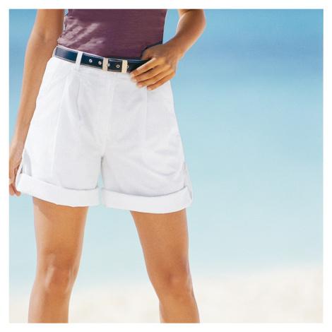 Blancheporte Ohrnovací bermudy - šortky bílá