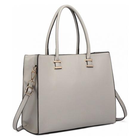 Šedá elegantní dámská kabelka do ruky i na rameno Gariel Lulu Bags