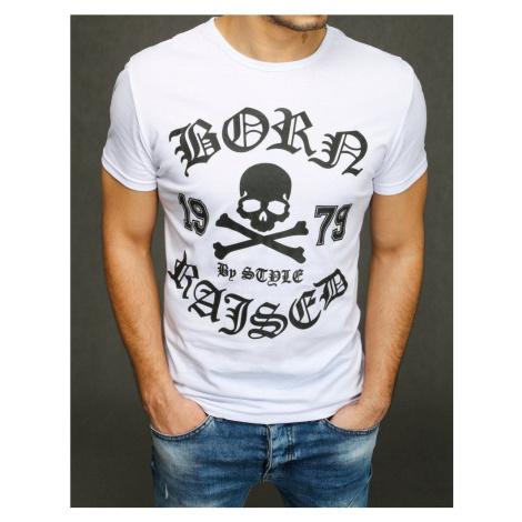 Dstreet Bílé tričko s potiskem