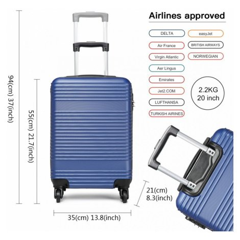 Modrý cestovní kvalitní malý kufr Reiner Lulu Bags