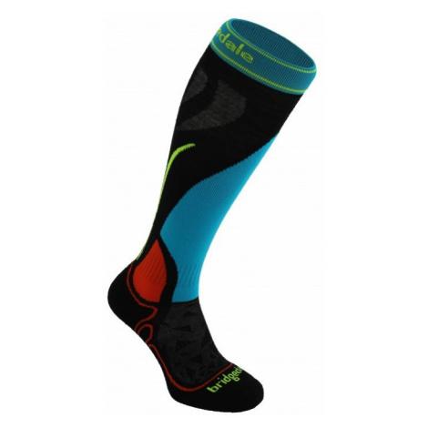 Ponožky Bridgedale Vertige Racer Junior black/multi XL (37-39 EU)