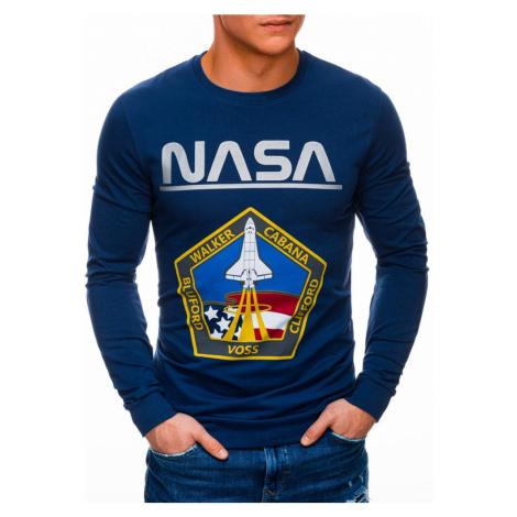 Inny Modrá mikina bez kapuce NASA B1272