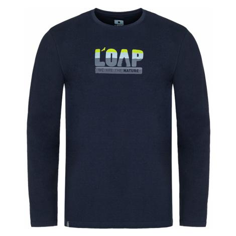 LOAP ALBI Pánské triko dlouhý rukáv CLM2069M37M Modrá