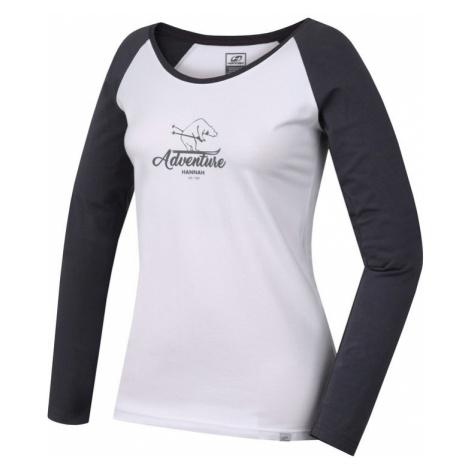 Dámské tričko Hannah Fabris bright white/castlerock