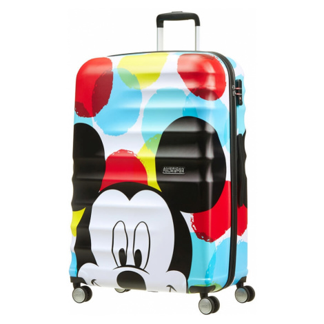 AT Dětský kufr Wavebreaker Disney Spinner 77/29 Mickey Close-Up, 52 x 29 x 77 (85673/6978) American Tourister