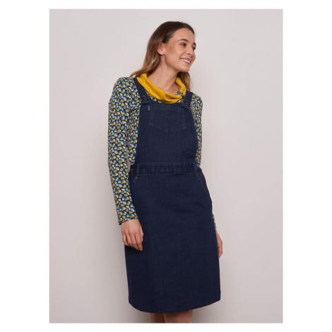 Tranquillo modré džínové šaty s laclem