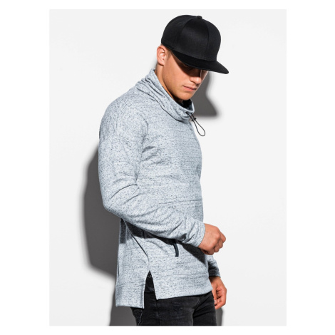 Ombre Clothing Men's sweatshirt with a stand-up collar B1096