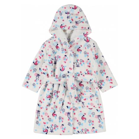 SCHIESSER Koupací plášť bílá / tmavě fialová / pink / tyrkysová