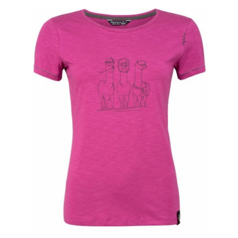 Chillaz Gandia Alpaca Gang triko kr. rukáv, růžová