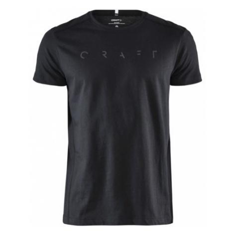 Pánské tričko CRAFT Deft SS černá/malé logo