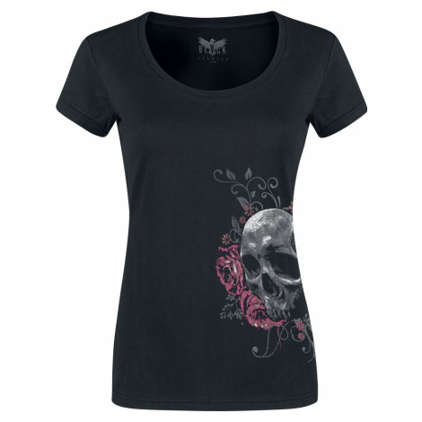 Black Premium by EMP schwarzes T-Shirt mit Rundhalsausschnitt und Print dívcí tricko černá