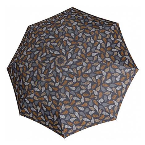Šedý vzorovaný skládací mechanický dámský deštník Alicia Doppler
