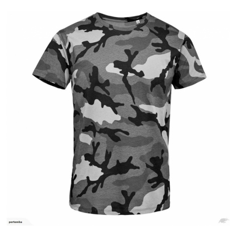 Vojenské tričko SOL'S - Military pánské -Grey