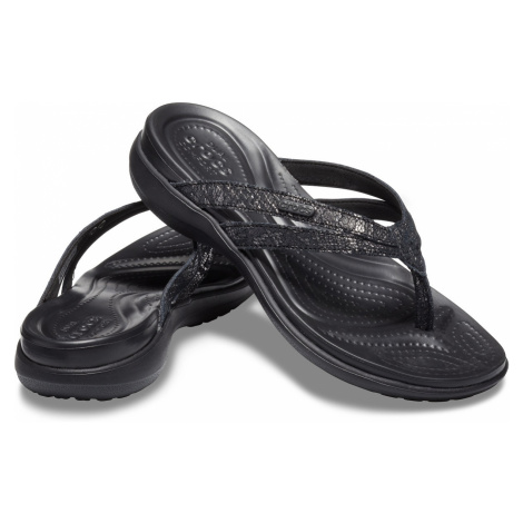 Crocs Capri Strappy Flip Black