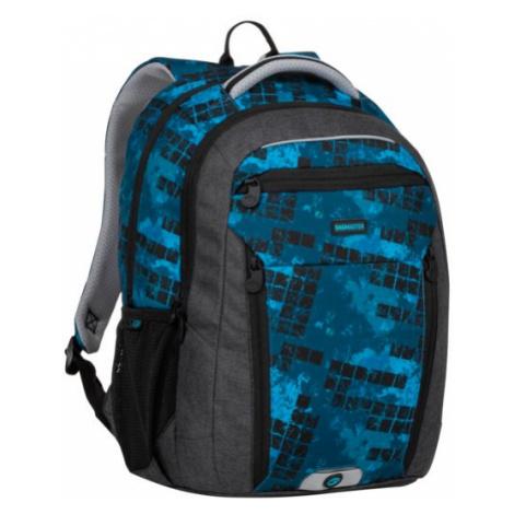 Školní batoh BOSTON 20 B BLACK/BLUE/GREEN, nový zádový systém, design, pro kluky, dvě kapsy napr BAGMASTER