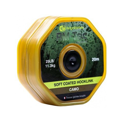 RidgeMonkey RM-Tec Soft Coated Hooklink 35lb 20m Camo