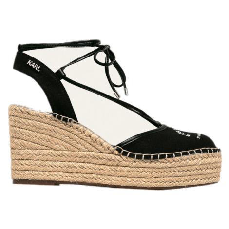Černé sandály KARL LAGERFELD