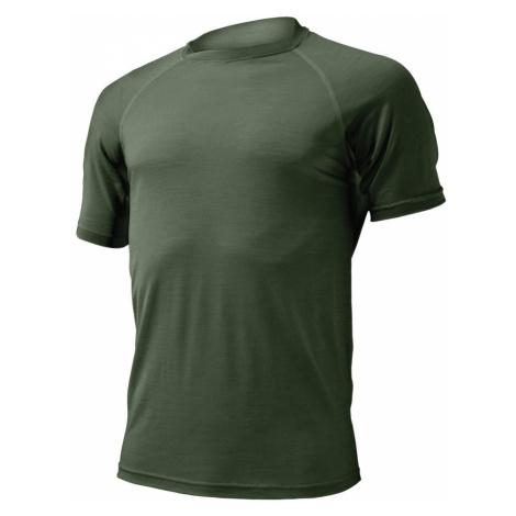 Pánské vlněné Merino triko QUIDO 160g - tmavě zelené Lasting