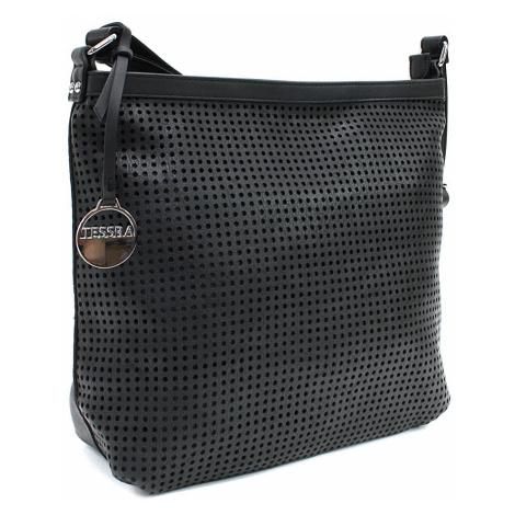 Černá prostorná dámská kabelka s perforací Ynez Mahel