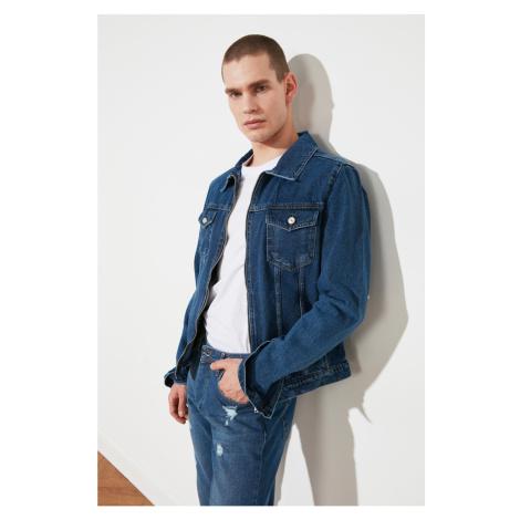 Trendyol Indigo Men's Zipper Denim Jacket