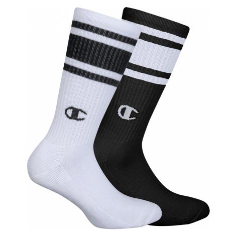 Ponožky Unisex Champion 8SU 2PACK bílá/černá | vzorované