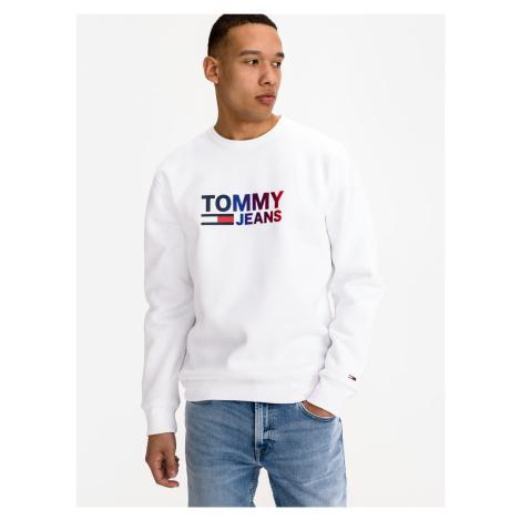 Ombre Logo Mikina Tommy Jeans Bílá Tommy Hilfiger