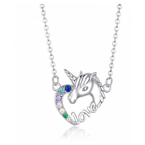Linda's Jewelry Stříbrný náhrdelník Pohádkový Jednorožec Ag 925/1000 INH093