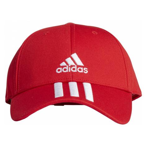 Dětské kšiltovka adidas Baseball 3-stripes Twill Cap Červená / Bílá