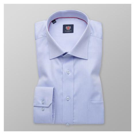 Pánská košile klasická modrá s jemným pruhovaným vzorem 11388 Willsoor