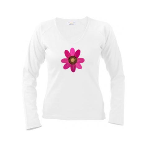 Dámské tričko dlouhý rukáv Květina