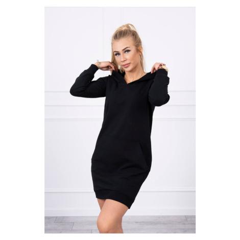 Mikinové šaty černé Kesi