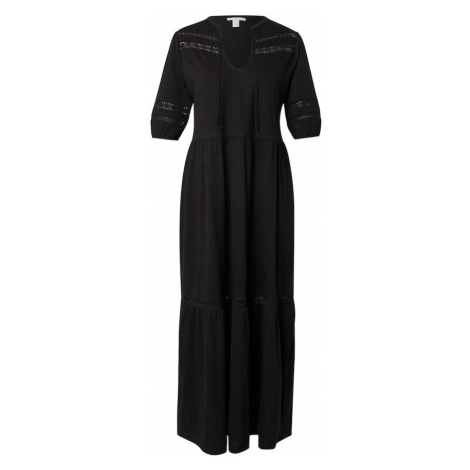 EDC BY ESPRIT Košilové šaty černá