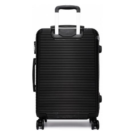 Černobílý cestovní kvalitní prostorný kufr Atsen Lulu Bags