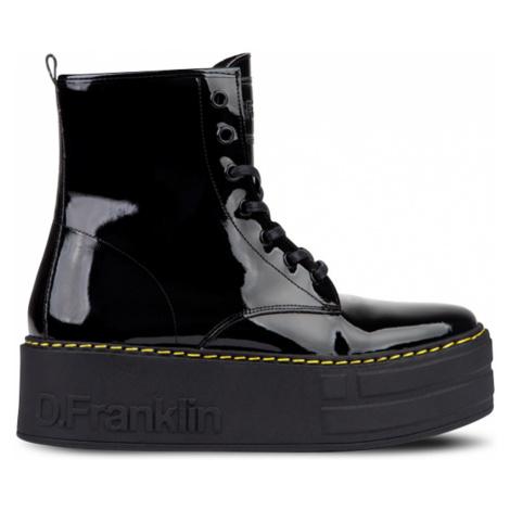 DFranklin Černé šněrovací boty na platformě D.Franklin