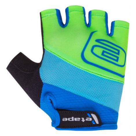 Dětské cyklistické rukavice Etape Simple modro-zelené,