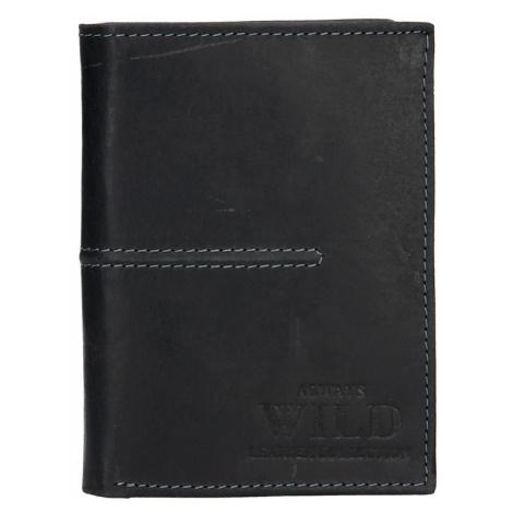 Pánská kožená peněženka Always Wild Romelo - černá
